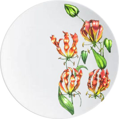 Flame Lilly Dinner Plate